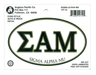 Sigma Alpha Mu Euro Decal Oval Sticker