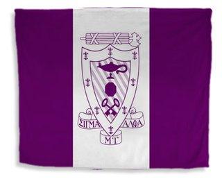 Sigma Alpha Mu Flag Giant Velveteen Blanket