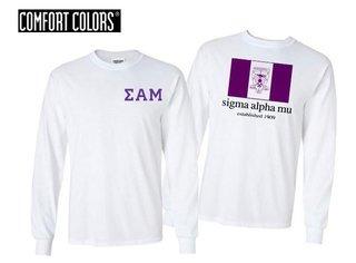 Sigma Alpha Mu Flag Long Sleeve T-shirt - Comfort Colors