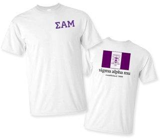 Sigma Alpha Mu Flag T-Shirt