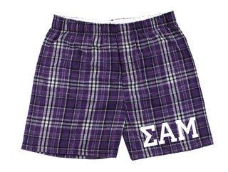 Sigma Alpha Mu Flannel Boxer Shorts