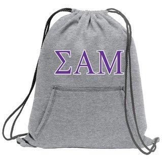 Sigma Alpha Mu Fleece Sweatshirt Cinch Pack