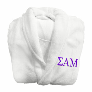 Sigma Alpha Mu Fraternity Lettered Bathrobe