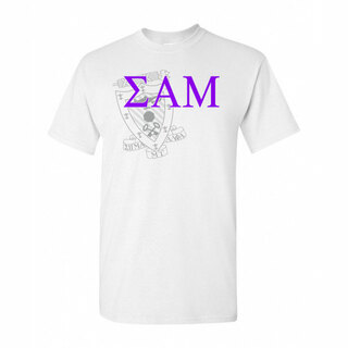 Sigma Alpha Mu Greek Crest - Shield T-Shirt