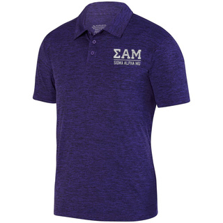 Sigma Alpha Mu Greek Letter Intensify Heather Sport Polo