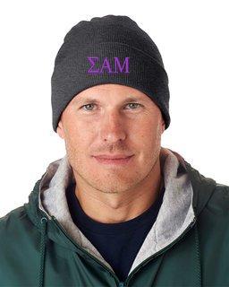 Sigma Alpha Mu Greek Letter Knit Cap