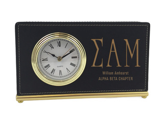 Sigma Alpha Mu Horizontal Desk Clock