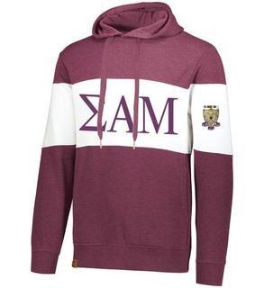 Sigma Alpha Mu Ivy League Hoodie W Crest On Left Sleeve