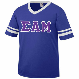 DISCOUNT-Sigma Alpha Mu Jersey With Greek Applique Letters