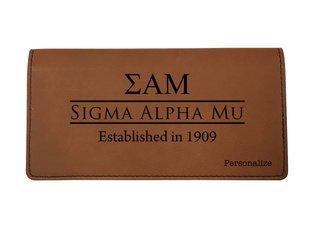 Sigma Alpha Mu Leatherette Checkbook Cover