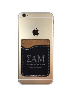 Sigma Alpha Mu Leatherette Phone Wallet