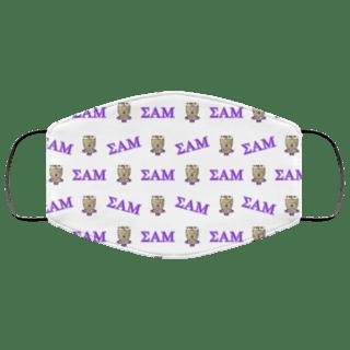 Sigma Alpha Mu Letter Crest Face Masks