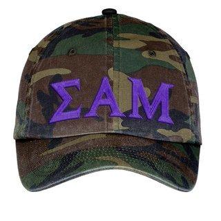 Sigma Alpha Mu Lettered Camouflage Hat