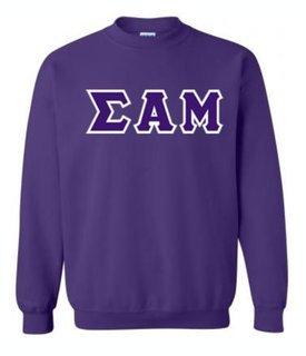 Sigma Alpha Mu Sewn Lettered Crewneck Sweatshirt