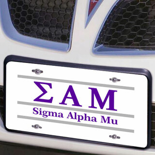 Sigma Alpha Mu Lettered Lines License Cover