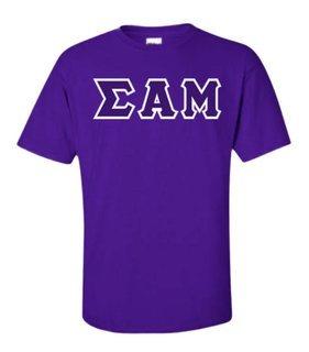 Sigma Alpha Mu Sewn Lettered T-Shirt