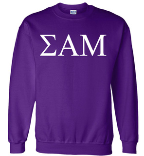 Sigma Alpha Mu Lettered World Famous $19.95 Greek Crewneck