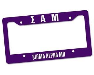 Sigma Alpha Mu Custom License Plate Frame