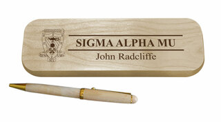 Sigma Alpha Mu Maple Wood Pen Set