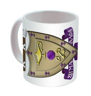 Sigma Alpha Mu Mega Crest - Shield Coffee Mug