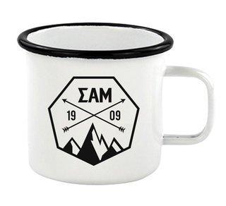 Sigma Alpha Mu Metal Camping Mug