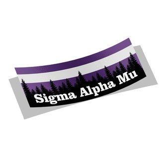 Sigma Alpha Mu Mountain Decal Sticker