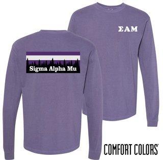 Sigma Alpha Mu Outdoor Long Sleeve T-shirt - Comfort Colors