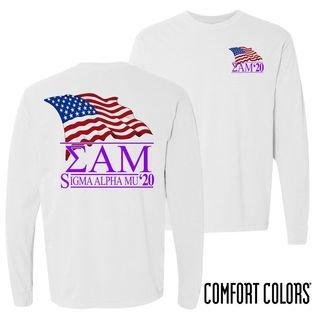 Sigma Alpha Mu Patriot Long Sleeve T-shirt - Comfort Colors