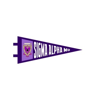 "Sigma Alpha Mu Pennant Decal 4"" Wide"