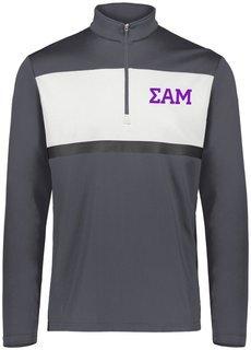 Sigma Alpha Mu Prism Bold 1/4 Zip Pullover