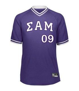 Sigma Alpha Mu Retro V-Neck Baseball Jersey
