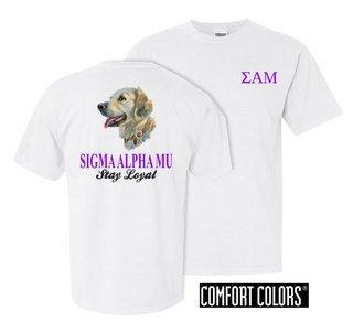 Sigma Alpha Mu Stay Loyal Comfort Colors T-Shirt
