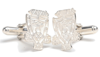 Sigma Alpha Mu Sterling Silver Crest - Shield Cufflinks