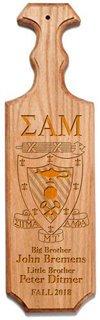 Sigma Alpha Mu Traditional Greek Paddle