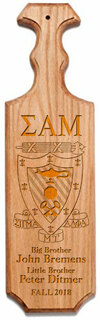 Sigma Alpha Mu Traditional Greek Paddle