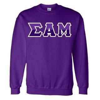 Sigma Alpha Mu Two Tone Greek Lettered Crewneck Sweatshirt