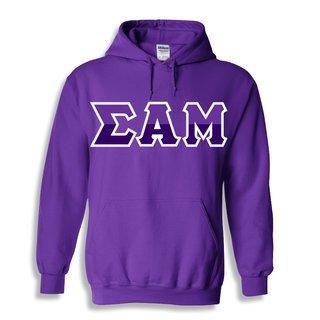 Sigma Alpha Mu Two Tone Greek Lettered Hooded Sweatshirt