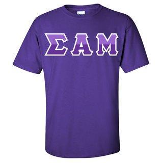 Sigma Alpha Mu Two Tone Greek Lettered T-Shirt