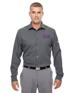 Sigma Alpha Mu Under Armour�  Men's Ultimate Fraternity Long Sleeve Buttondown