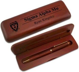 Sigma Alpha Mu Wooden Pen Set