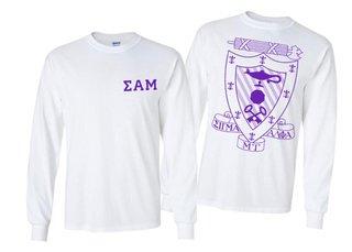 Sigma Alpha Mu World Famous Crest - Shield Long Sleeve T-Shirt- $19.95!
