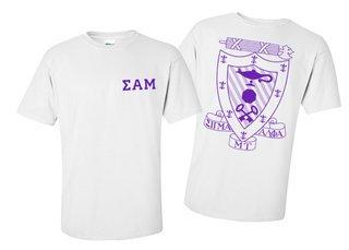 Sigma Alpha Mu World Famous Crest - Shield Tee