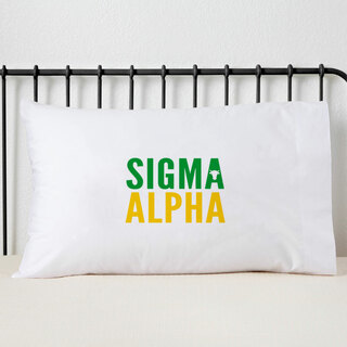Sigma Alpha Name Stack Pillow Cover