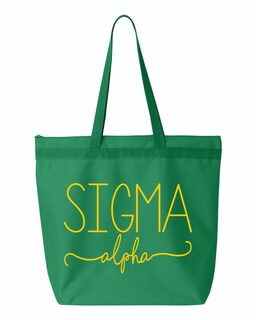 Sigma Alpha New Handwriting Tote Bag