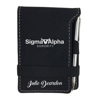 Sigma Alpha Mascot Notepad With Pen
