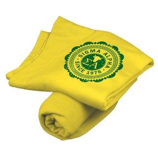 Sigma Alpha Old School Seal Sweatshirt Blanket