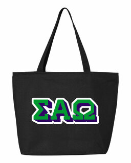 Sigma Alpha Omega 3D Letter Tote Bag