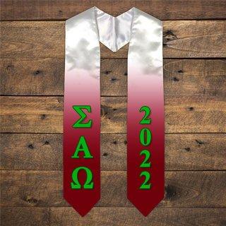 Sigma Alpha Omega Extra Fancy Greek Graduation Stole W Year