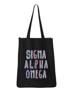 Sigma Alpha Omega Jumbo All In Tote Bag