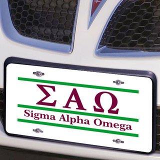 Sigma Alpha Omega Lettered Lines License Cover